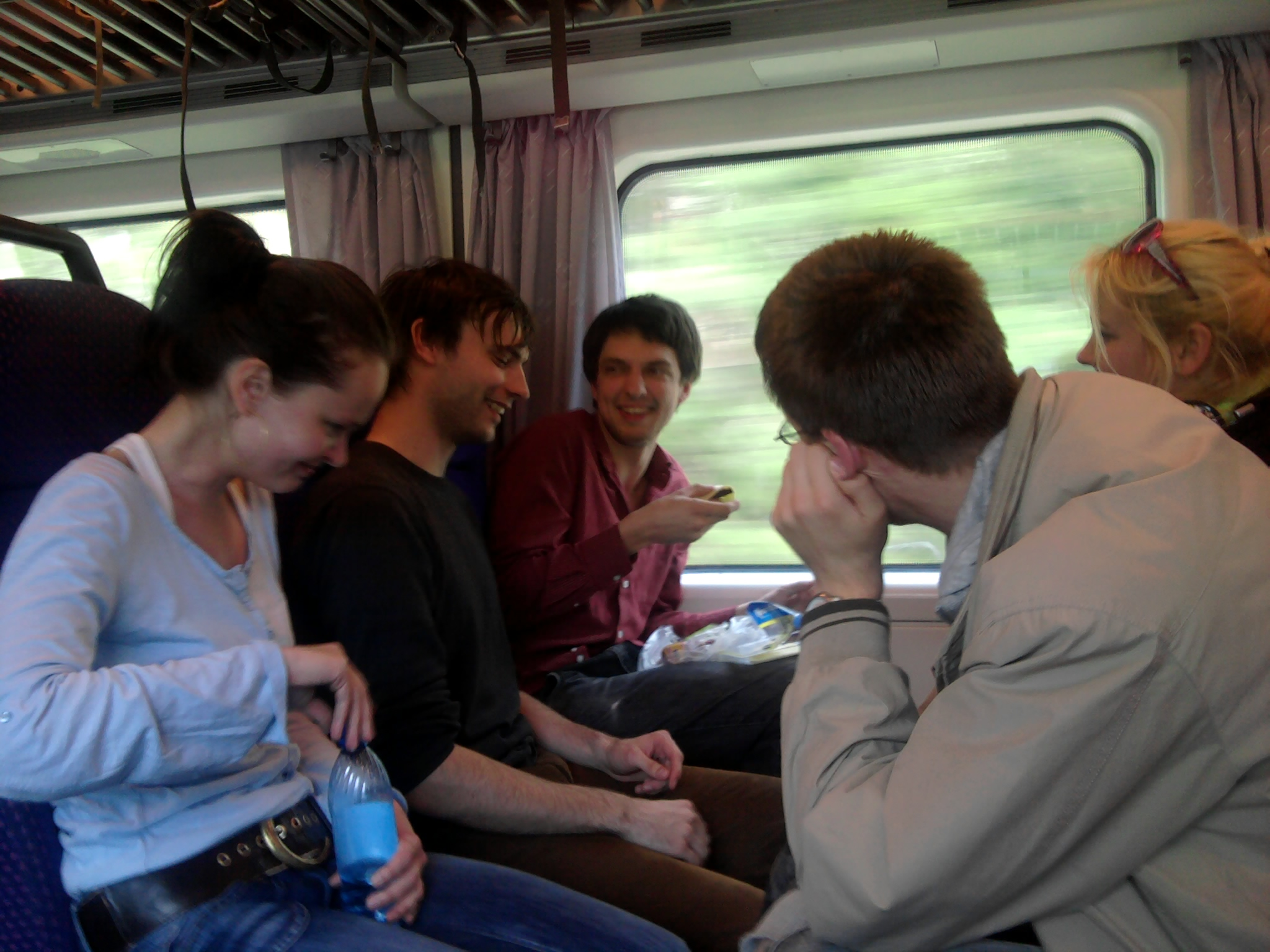 Jaa!, on a train to Tampere